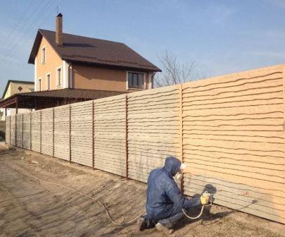 Окраска заборов в Екатеринбурге